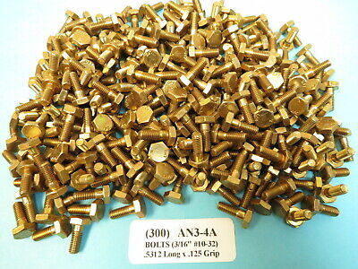 Five AN8-25A Aircraft Bolts 1//2-20 x 2 23//32 Alloy Steel Made in USA