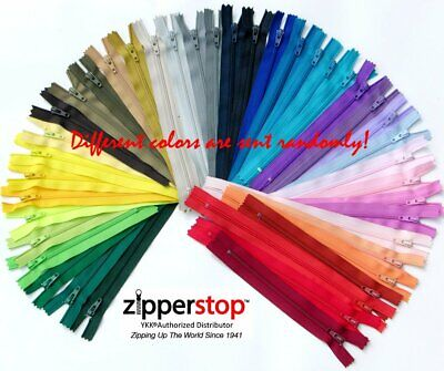 100 YKK Nylon Zippers 5 Inches #3 coil Assorted Colors
