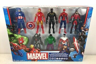 Marvel Avengers 8 Character Ultimate Protectors Pack 2017 Hasbro Sealed