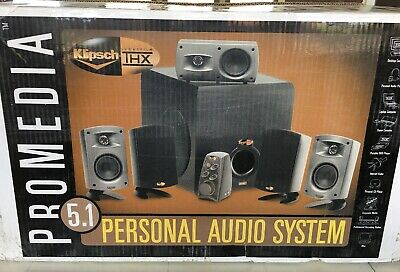 Klipsch ProMedia 5.1 THX Computer Speaker System 470W upgraded cooling SurgeX