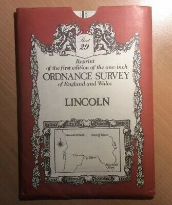 LINCOLN  ORDANCE SURVEY ONE-INCH MAP REPRINT 1981 2nd Addition