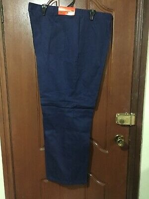 Pack of 2- JD UNIFORMS Work Pant 100% Cotton Blue Size 127s RRP $40 Aussie Made