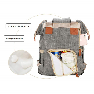 Diaper Bag Backpack Multifunction Travel Mum Bag Maternity Baby Nappy Changing