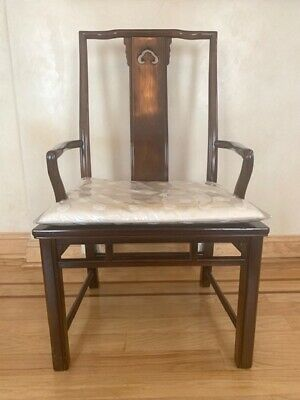 Set of 6 Vintage Havy Asian-Style Dining Chairs, Great Condition,Solid Wood Rare