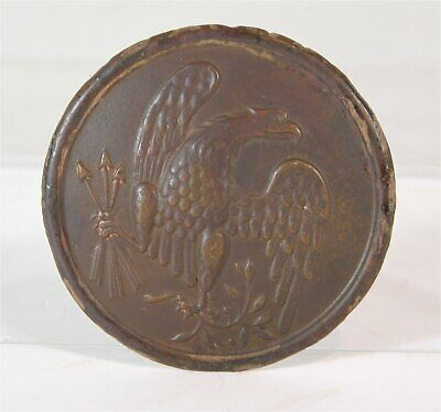 ORIGINAL 1860s CIVIL WAR CAST BRASS EAGLE BREAST PLATE - DUG AT SPOTSYLVANIA