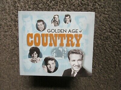 """V/A """"GOLDEN AGE OF COUNTRY"""" 2009 10 CDs 158 CLASSIC COUNTRY TRX. NM OOP BOX SET"""
