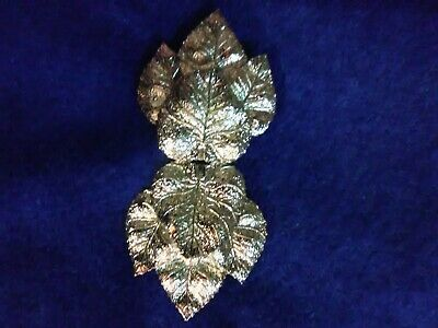 "Vgt ""Mimi Di N"" Leaves Belt Buckle Silver Tone Leaf"