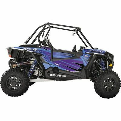 Dragonfire Racing RZR Voodoo Blue Door Panel Graphic Kit - POL RZR XP 4 1000 EPS