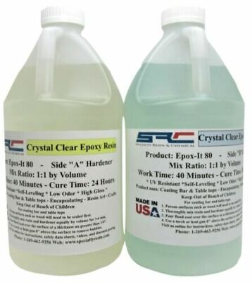 @@Epoxy Resin 1 Gal Kit For Crystal Clear Coating Bar And Table Tops