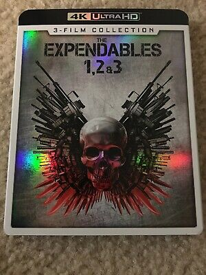 EXPENDABLES 1+2+3 (Trilogy, 4K ULTRA HD) Rare W/Slipcover!
