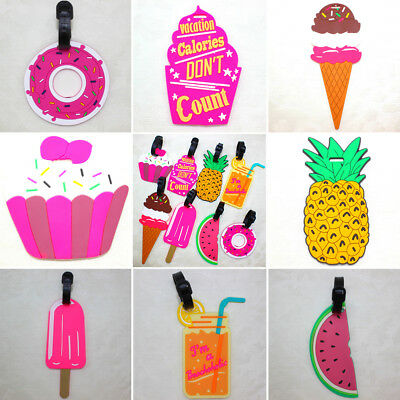 Cartoon Silicone Travel Luggage Tags Baggage Suitcase Bag Labels Name Address