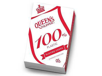 Queen's Slipper 100% Plastic Deck Of Playing Cards Poker Size Casino Games Magic