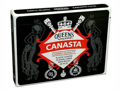Queen's Slipper Canasta Double Deck Playing Cards Casino Quality Plastic Games