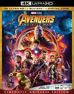 Avengers: Infinity War [New 4K UHD Blu-ray] With Blu-Ray, 4K Mastering