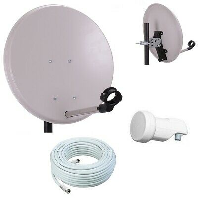Digitale Camping SAT Anlage 40cm Spiegel mit single LNB 10m Kabel HD Satanlage