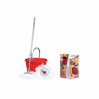 360 Rotating Spinning Spin Mop Bucket Adjustable Handle Microfibre Cleaning Head