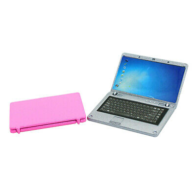 1/12 Scale Dollhouse Miniature Accessories Mini Laptop Notebook Computer Toy HOT