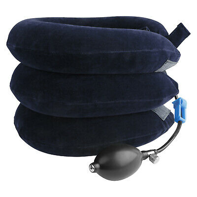 3 Tube Cervical Neck Pillow Traction Device Collar Brace Support Head Stretcher