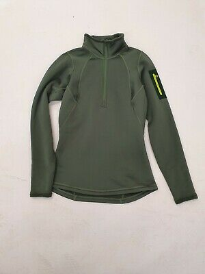 Arcteryx  Rho LT Zip Neck Women Damen Fleece-Pullover Gr. S Khaki