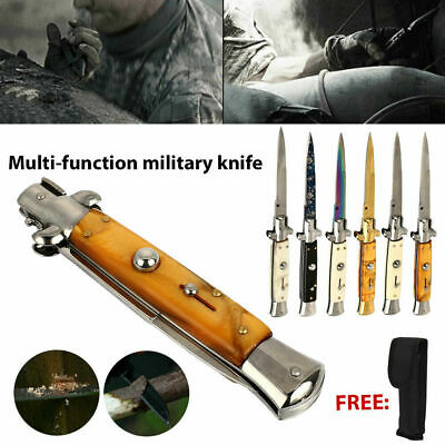 """US 22CM 8""""  Tactical Folding Knife Assisted Opening Survival Camping EDC Pocket"""