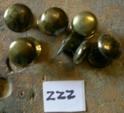 Pair of nice medium size solid brass door or drawer knobs, Reproductions. (ZZZ)