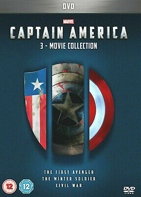 Captain America 1-3 Box Set 3 Movies Collection Brand New & Sealed Region 2 UK