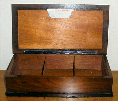 19th Century Wooden Bridge Cards & Accessories Carved Box or Casket
