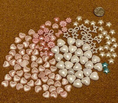 Mixed Embellishments - Cabochons Pearls Hearts Stars Bows Decoden for Crafting