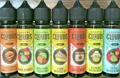 COASTAL CLOUDS 50ML E Liquid 0MG Vape American Juice 70/30 VG/PG | Sweets Range