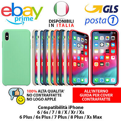 Cover iPhone Apple Silicone COLORI ORIGINALE Soft per XS Max X XR 8 7 6S 6 Plus