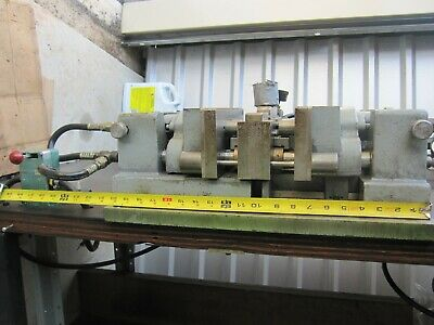 "Heinrich Model 77 complete pneumatic horizontal press, vise (60"" table)"