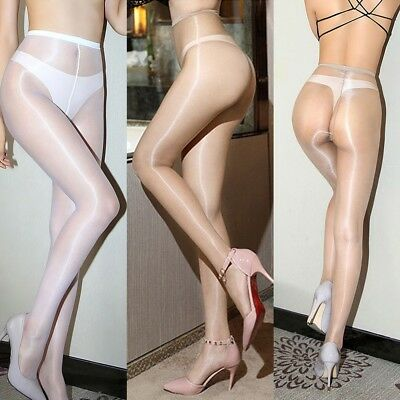 Ultra-thin 1D Shiny High Gloss Pantyhose Crotch/Crotchless Tights Stocking Sheer