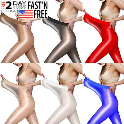 Women Oil Shiny Pantyhose Tights Elastic High Glossy Stocking Hosiery Plus Size