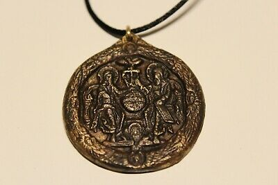 Post Medieval Beautiful Men's Bronze Large 38Mm Christian Orthodox Pendant