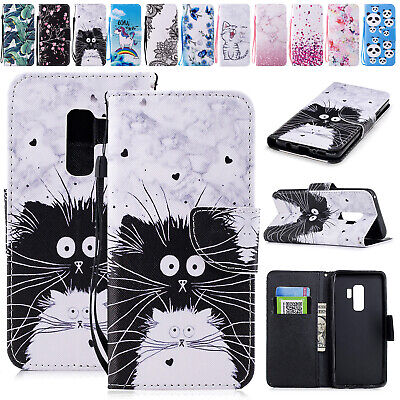 For Samsung A50 A30 A20 A70 Case Patterned Magnetic Leather Wallet Stand Cover