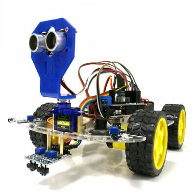 WiFi Control 2 Tracking Ultrasonic Obstacle Avoidance Intelligent Robot Car X9T6