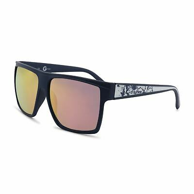 5c5589ed08c24 Guess Men s Square Sunglasses Black UV3 Protection Acetate Injected Frame