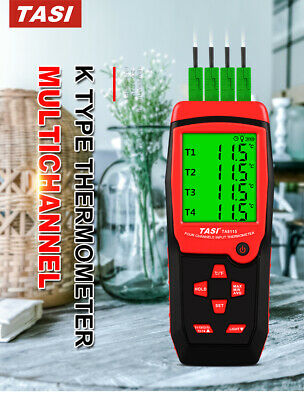 Multi-channel Digital K Type Thermocouple Thermometer Temperature Tester TA8114