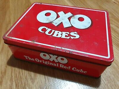 Red Oxo Cube Tin 3 48. 285g