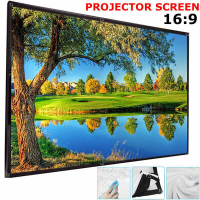 """120"""" Inch Projector Projection Screen 16:9 White Matte 3D HD Home Theater Cinema"""