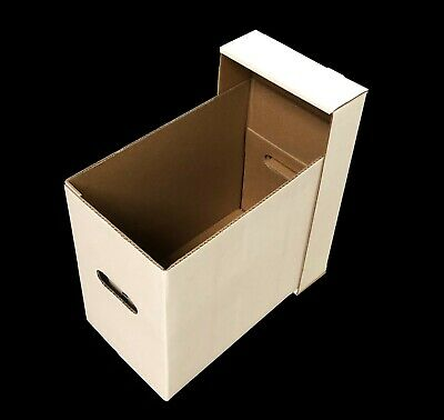 (40) CSP Short Comic Cardboard Double Wall Storage Boxes with lids-NEW!