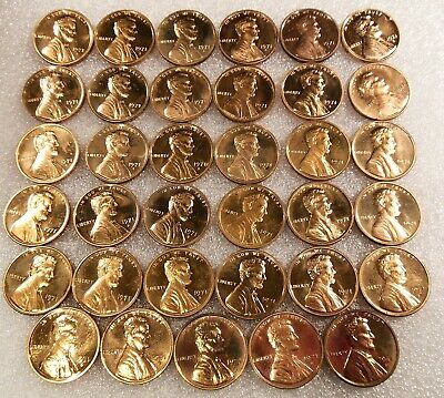 1971 S  RED PROOF Lincoln Memorial Cent PART Roll of 35 Plus 26 single Proofs