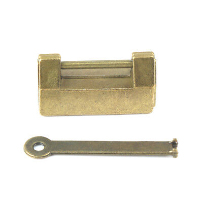 Mini Vintage Lock Bronze Metal Lock Old Chinese Padlock For Drawer Jewelry Box