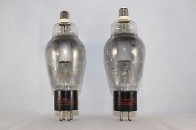 RARE Perfectly MATCHED Pair Eimac 866A Transmitting Rectifier TEST NEW NOS