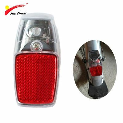 1 pcs Bicycle Rear Tail Fender Reflector Mudguard Oval Warnning Red black Q4J1