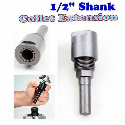 "1/2"" shank bits Router Collet Extension Engraving machine extension rod"