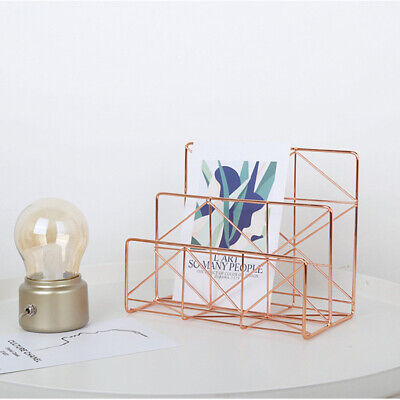 1 Pc Document Storage Rack Simple Nordic Style Letter Holder Files Rack for Home