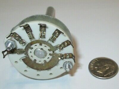 Centralab Ceramic Rotary Switch * Special*  1 Pole - 5 Positions Centralab  Nos