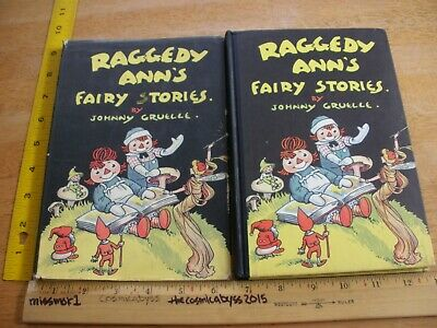 Raggedy Ann's Fairy Stories hardcover book HBDJ 1928 1st edition w/ dustjacket