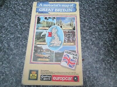 A motorists map of Great Britain  vintage map